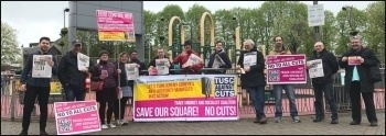 TUSC campaigners in Walthamstow, May 2018