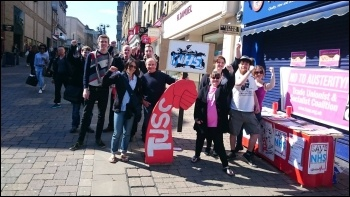 Huddersfield TUSC campaigners, photo Mike Forster