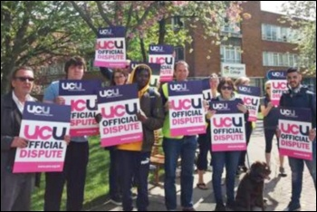 UCU strikers in Harrogate, 9.5.18, photo Iain Dalton