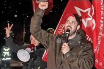 Kristofer Lundberg, photo by Rättvisepartiet Socialisterna