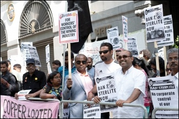 Tamil Solidarity protest outside the Indian High Commission, 26.5.18, photo by Ragavan