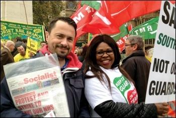 Socialist seller, photo Paula Mitchell
