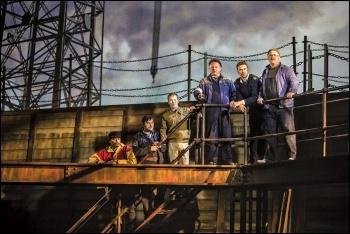 Scene from The Last Ship, photo by Pamela Raith