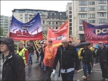 PCS contingent on the 12 May TUC demo