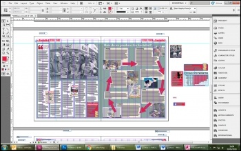 The editors use Adobe InDesign to lay out the print edition - Sarah laid out these pages