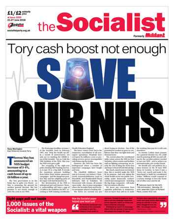 The Socialist issue 1000 front page: Save our NHS