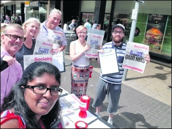 Selling the Socialist in Ilford, east London, photo Isai Priya