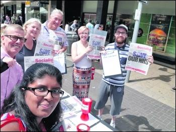 Selling the Socialist in Ilford, east London, photo Isai Priya, photo Isai Priya