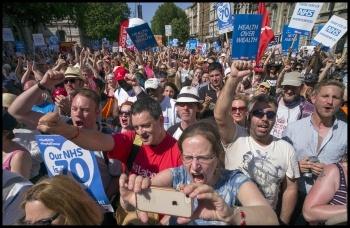 Stop NHS cuts, photo Paul Mattsson