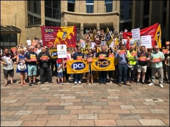 Glasgow PCS pay day protest, photo Socialist Party Scotland