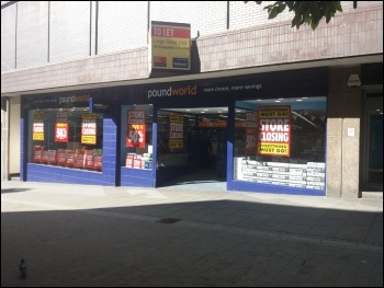 Poundworld is in administration, photo Iain Dalton