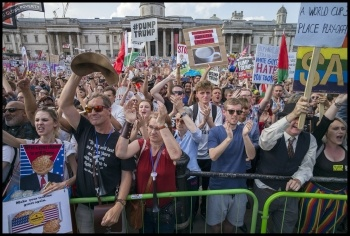 250,000-strong central London protest against visit of Donald Trump on 13 July 2018, photo Paul Mattsson, photo Paul Mattsson