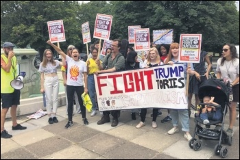 Anti-Trump demonstrators in Southampton, 13.7.18, photo by Soton SP