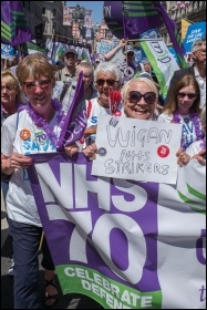Marching for the NHS, photo by Paul Mattsson