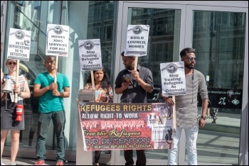 London solidarity protest, photo Tamil Solidairty