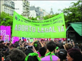 Protest in support of abortion rights in Argentina August 2018, photo Soyyosoycocomiel/CC