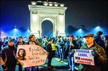 An earlier anti-corruption demo in Bucharest, photo Mihai Petre