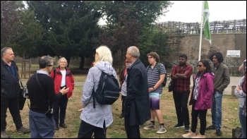West London Socialist Party 'Revolt and Rebellion' walk 12 August 2018, photo Helen Pattison