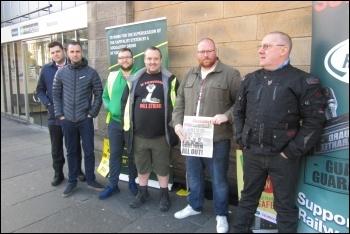 Northern Rail RMT DOO strike in Newcastle 25 August 2018, photo Elaine Brunskill