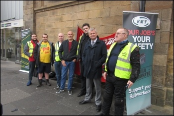 Newcastle picket line, photo Elaine Brunskill