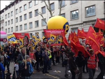 A PCS contingent marching