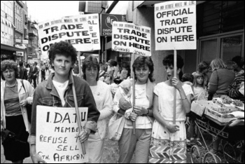 Irish retail workers struck to prevent sale of goods produced under apartheid