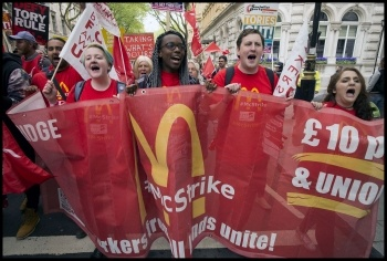 McStrikers on the march, photo Paul Mattsson