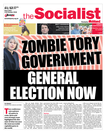 The Socialist issue 1012 - Zombie Tory government: general election now