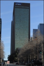 Financial services giant KMPG's sinister Dallas edifice, photo by Joe Mabel/CC