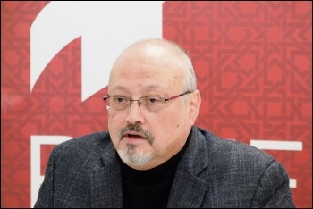 Saudi opposition journalist Jamal Khashoggi, photo by POMED/CC