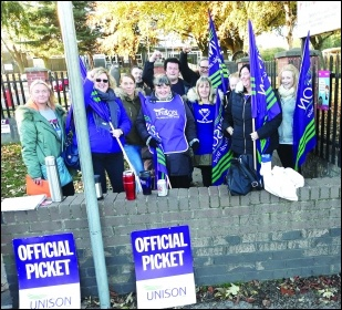Ladywood Primary school strikers, October 2018, photo A. Tice