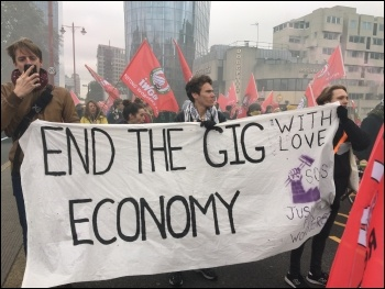 Precarious workers march against the gig economy, 30.10.18, photos Paula Mitchell