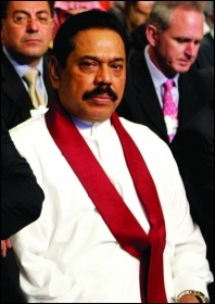 Mahinda Rajapaksa, photo Nader Daoud-WEF/CC