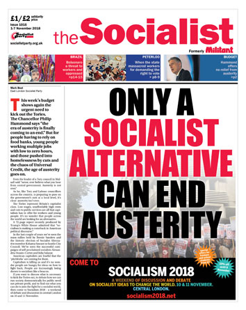 The Socialist issue 1016