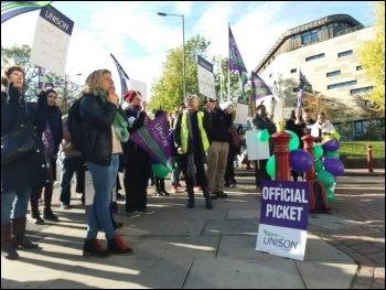 Bradford University staff strike against job cuts