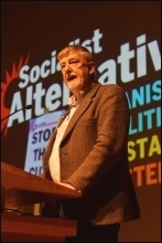 Dave Nellist speaking at Socialism 2018, photo Mary Finch
