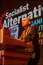 Paul Murphy speaking at Socialism 2018, photo Mary Finch