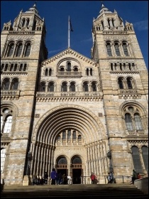 The grand front entrance to the Natural History Museum, photo by Nancy Taaffe