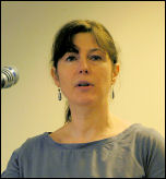 Judy Beishon, speaking at Socialist Party congress 2007, photo Paul Mattsson