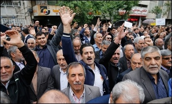 2018 Workers Day protests in Iran, photo