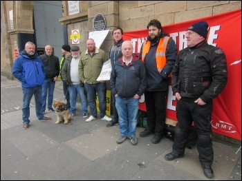 Newcastle RMT picket line 5