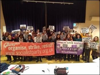 Socialist Party women's meeting 5 January, photo Mary Finch