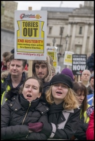 PA anti-austerity demo  12.1.19, photo Paul Mattsson
