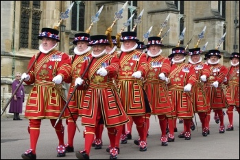 The Beefeaters are on the march!