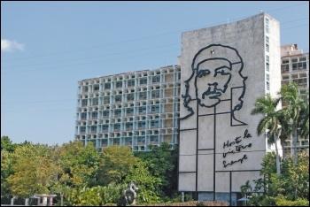 'Hasta la victoria siempre' - ever forwards to victory - Che's revolutionary slogan in Cuba today, photo by Scott Jones