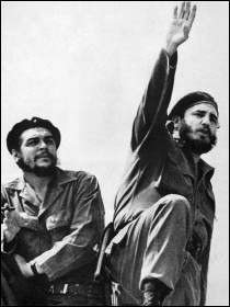 Che Guevara and Fidel Castro during the revolution