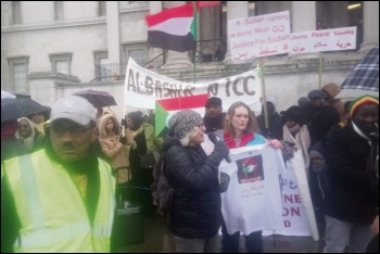 London protest in solidarity with the movement in Sudan, 27.1.19, photo by Mark Best