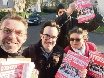 Out canvassing for the Socialist Party in Southampton's Coxford ward, January 2019, photo Nick Chaffey