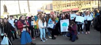 Glasgow, 15.2.19, photo Glasgow Socialist Students