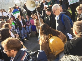London Socialist Party sound system being used, London 15.2.19, photo by Paula Mitchell
